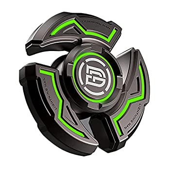 skyweon Fidget Spinners Gifts for Adults and Kids Stress Anxiety ADHD Relief Figets Toy Metal Finger Hand Spinner Toys with Luminous Light Spinner Absorb Solar Light Then Release in Dark  Basic