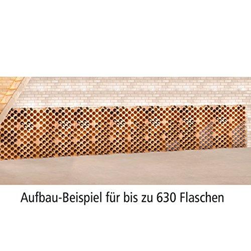 Unbekannt Weinregal/Flaschenregal TERRAKOTTA, Kunststoff, 42er-Set für 630 Flaschen, stapelbar/erweiterbar