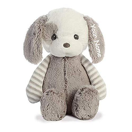 Ebba Personalized Grayson Puppy Dog Plush Stuffed Animal Toy - 10 Inches