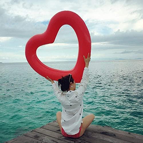 FYRMMD Anillo Inflable, Flotador de Piscina Inflable en Forma de corazón, Juguete de Fiesta en la Piscina, Anillo de Amor para Nadar, Diversión en el Agua (Piscina de Anillo de natación)