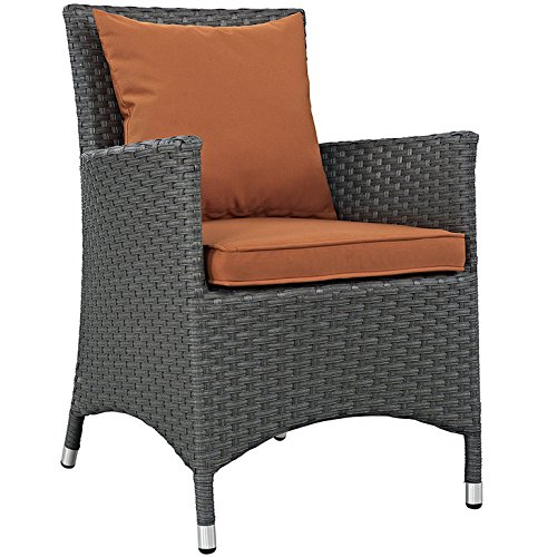 Modway LexMod Sojourn Dining Outdoor Patio Armchair, Canvas Tuscan