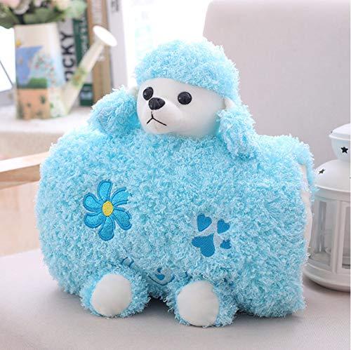 Schattige Poedel Hond Knuffels, Zacht Knuffeldier Kussen Pop Handwarmer, Nieuwjaar Kerstcadeau Voor Kinderen Meisjes 30Cm (Blauw)