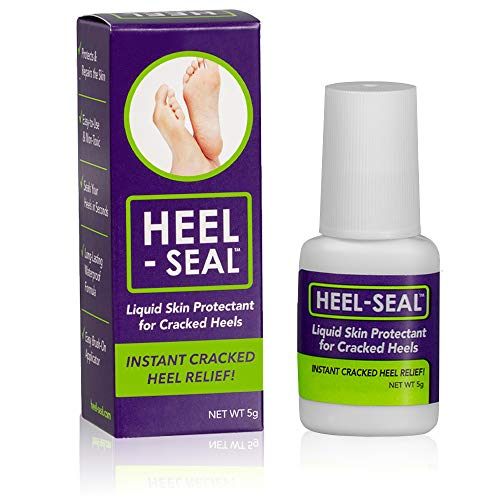 Heel-Seal - The #1 Liquid Skin Protectant for Cracked Heels, Cracked Feet Treatment, Liquid Bandage, Must-Have Foot Care for Cracked Feet, Calluses, Blisters, Foot Repair, Applicator and Buffer, 1Pk