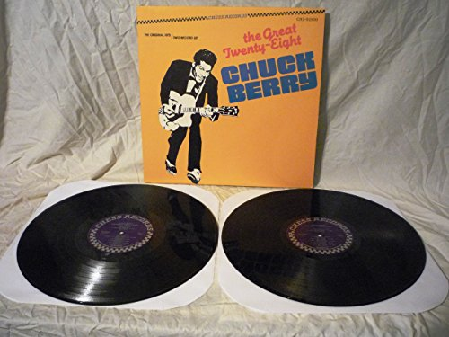 Chuck Berry The Great Twenty-Eight Gatefold 2 Vinyl Record LPs Album - Reissue CH 2-92500 - 1984 - Stereo Rock and Roll Music NM Cover and Records