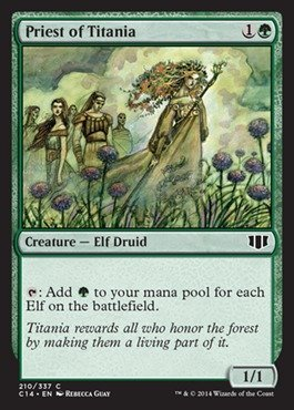 Magic The Gathering - Priest of Titania - Commander 2014