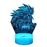 Dragon Ball Z Monkey Saiyan Night Light 3D Optical USB Cable Touch Change Vegeta LED Table Lamp Cartoon Japan Anime Theme God Super Son Goku Illusion luminaria de mesa Kids Xmas Gift