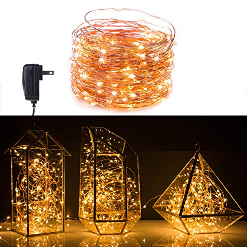 200 LED Fairy Lights 70 Ft Firefly String Lights Waterproof Starry Lights on Copper Wire Perfect for Christmas Party DIY Wedding Bedroom Indoor Party Decorations Warm White