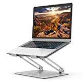 Laptop Stand, Ergonomic Adjustable Notebook Stand, Aluminum Portable Computer Riser with Heat-Vent Foldable Desktop Laptop Holder Compatible with MacBook Air Pro, All 10 to 17 Inch Laptops(Silver)