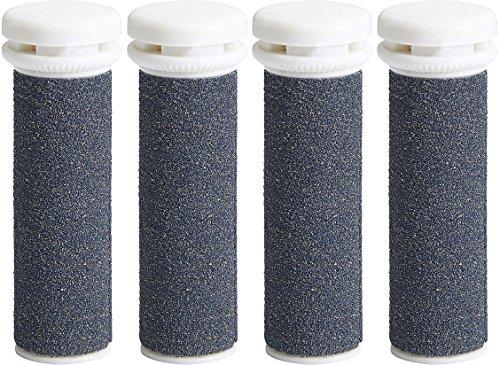 My Rollers™ Mineral Ersatzrollen (grau) für Emjoi Micro Pedi im 4er-Pack | Sehr Grob