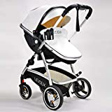LEJOUX™ Baby Stroller Pushchair PRAM Leather...