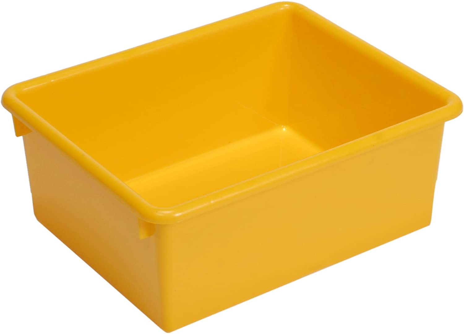Steffy Wood Products Yellow Storage Tub, 5-Inch by 10-1 2-Inch by 13-Inch
