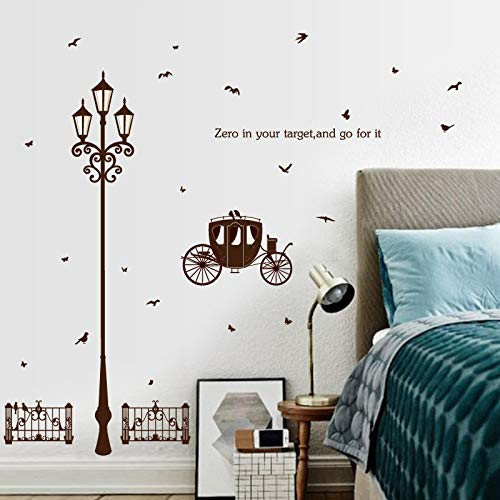 Réverbère Papillon Croquis Stickers Muraux Home Decor Salon Citations Sayings Cuisine Bricolage Papier Peint Affiche Murales
