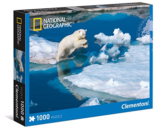 Clementoni - Puzzle national geographic collection 1000 piezas oso polar (39304) , color/modelo surtido