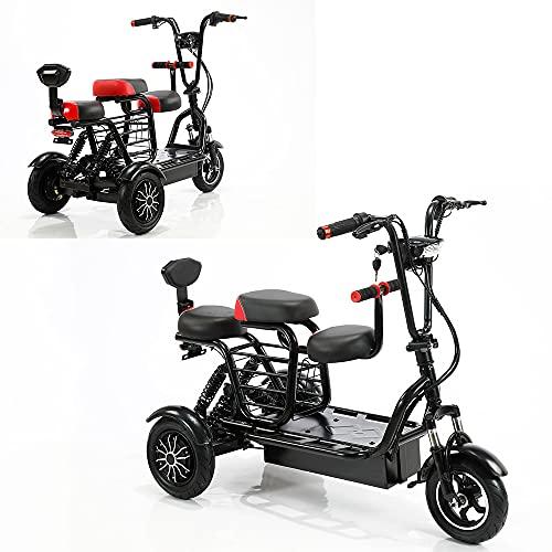 Patinete eléctrico de 3 ruedas, motorizado, 700 W, doble accionamiento, 48 V 15 A, iones de litio, patinete de viaje al aire libre para personas mayores y adultos con un alcance de 55 a 60 kilómetros