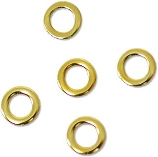 薄型メタルパーツ10052 ラウンドS 2mm(内寸1mm) ゴールド 50個入り