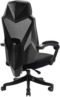KFDQ Sillas de escritorio , Silla de oficina ergonómica Silla de escritorio con respaldo alto con soporte lumbar Asiento ajustable en altura, reposacabezas Respaldo de malla transpirable Cojín de asi