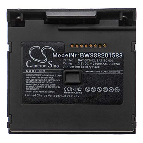vhbw Batterie Compatible avec Honeywell 8680i, 8680i Smart Wearable Scanner Scanner de Code-Barres POS (2100mAh, 3,8V, Li-ION)