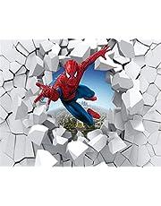 3D Behang Spiderman Door De Muur Illustratie Woonkamer Slaapkamer Achtergrond Muur Decoratie Muurschildering Muur Papier