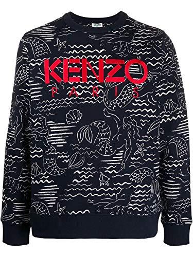 Kenzo Luxury Fashion Herren FA55SW1224ME77 Blau Baumwolle Sweatshirt | Frühling Sommer 20