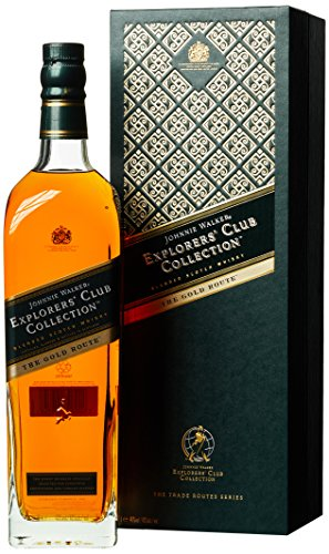Johnnie Walker Explorer's Club Collection The Gold Route mit Geschenkverpackung  Whisky (1 x 1 l)