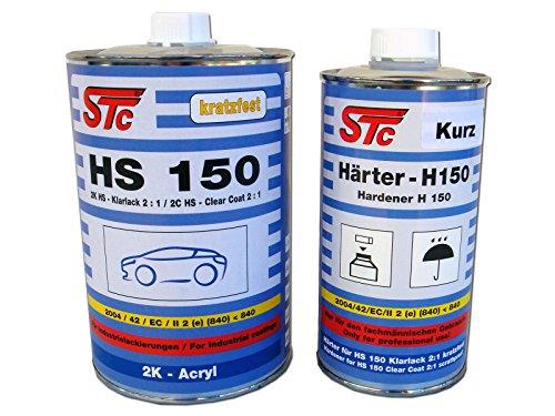 STC 1,5 L Set 2K HS 150 Acryl Klarlack Spezial Set 2:1 Kratzfest inkl. Härter kurz (1,5 L Set)