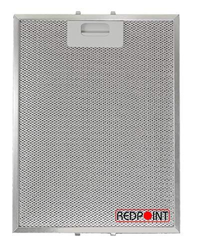 Filtro de aluminio para campanas extractoras, 247 x 327 x 9 mm, adaptable: Turboair