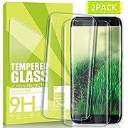 Nutmix Galaxy S7 Edge Panzerglas Schutzfolie, [2 Stück] Panzerfolie Displayschutz Gehärtetem Glass, Anti scratches, 9H Härtegrad, Blasenfrei, ultra dünn Displayschutzfolie für Samsung Galaxy S7 Edge