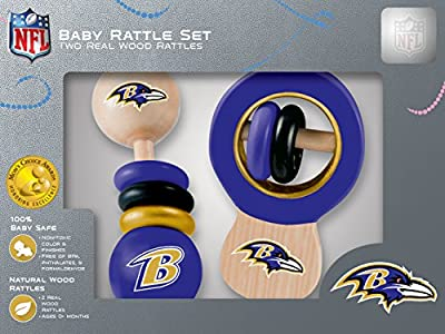 MasterPieces NFL Dallas Cowboys Baby Rattle, 2-Pack