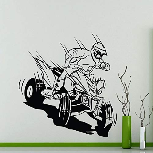 yuandp Quad Bike Vinyl Muursticker Racing Enthousiast Offroad Racing Club Home Muursticker 42X44cm AB