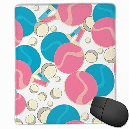 Smooth Mouse Pad, rotes und blaues Tischtennis Mobile Gaming Mousepad Work Mouse Pad Office Pad