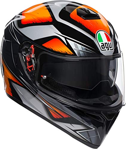 AGV K-3 SV Liquefy Integralhelm Schwarz/Orange MS (57)