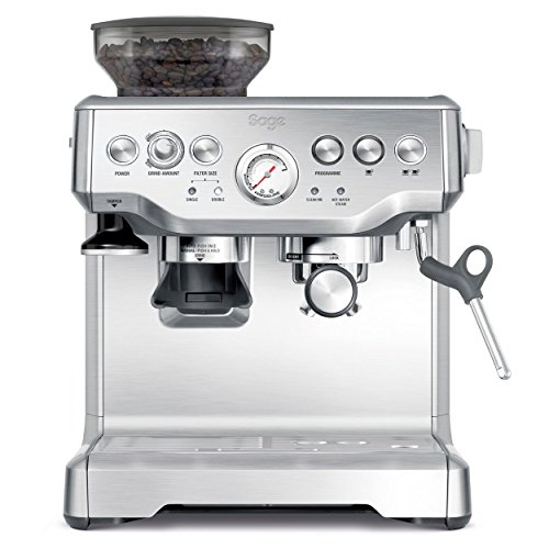 Sage BES870UK the Barista Express Espresso Machine - Silver