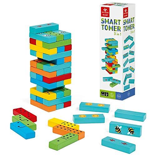 Seit Negro Smart Tower 3In1 Lernspiel Klassisch für Tutorien, Mehrfarbig, 8001097539819