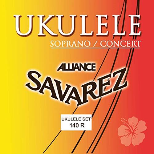 Savarez 660790 - Cuerdas para Ukulele soprano, concierto juego