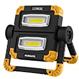 RUNACC LED Work Light Rechargeable Folding Flood Light 20W 1500LM Portable Outdoor Stand Work Lights with 360° Rotatation