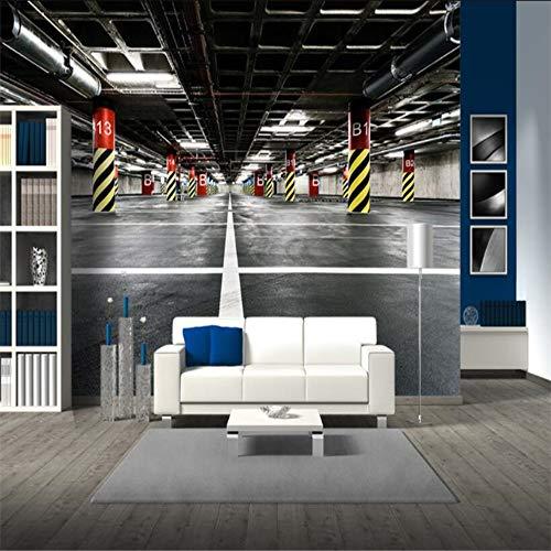 Custom Wallpaper 3D Underground Parking Wall Paper Bar Ktv Restaurant Living Room Tv Backdrop Wall Decor,300×210Cm