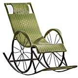 Productos para el hogar Tumbona de ratán para exteriores, marrón, reclinable, de gravedad cero, tumbonas, mecedoras, mecedoras, reclinable de jardín, tumbona, silla para patio, sala de estar (color