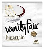 Vanity Fair Entertain Dinner Napkins, White, 40 Ct