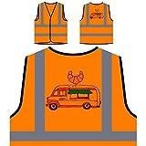 Pastelería Sabrosa Chaqueta de seguridad naranja personalizado de alta visibilidad r406vo