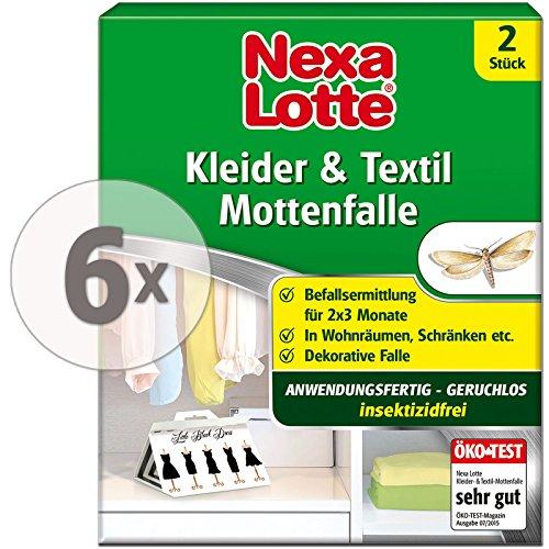 Nexa-Lotte Kleider- & Textil-Mottenfalle insektizidfrei (12 Stück)