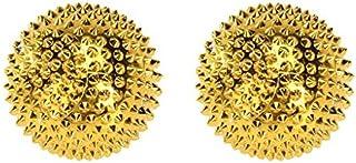 1 paar magnetische acupressuurkogels goud klein, 32 mm diameter 228 acupunctuurnaalden