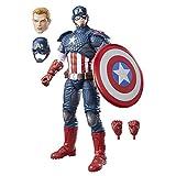 Avengers- Marvel Legends Figura Capitán América, Multicolor (Hasbro B7433EU4)...