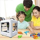 4YANG Mini 3D-Drucker,tragbarer,vollständig zusammengebauter 3D-Drucker mit Schneidesoftware 90 * 110 * 110 mm Druckgröße Ein-Schlüssel-Druck für die Haushaltsbildung und DIY-Kindergeschenke (weiß)