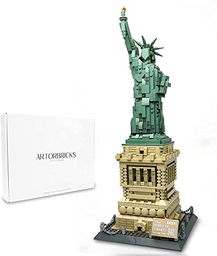 discount ArtorBricks Architectural Statue of Liberty new arrival Building Large Collection Building outlet sale Set Model Kit and Gift for Kids and Adults , Compatible with Lego (1577 Pieces) online
