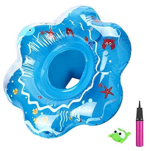joylink Baby Schwimmring, Aufblasbarer schwimmhilfe Sicherer Sitz Baby Float mit Luftpumpe, Baby Schwimmhilfen perfekt Schwimmtrainer für Kleinkender ab 12 bis 36 Monaten