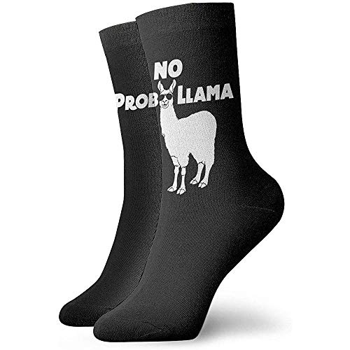 Gre Rry No Prob- Lama Unisex Athletic Socks Crew Socks Chaussettes de Compression