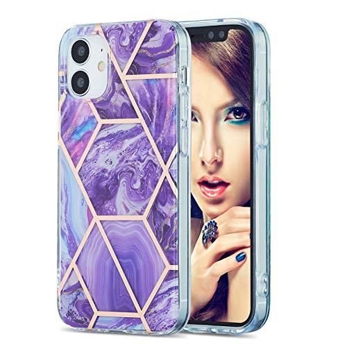 LJP Funda iPhone 12, Anti-caída Anti-arañazos Mármol Silicone Suave Carcasa, Soft Gel TPU Case Protección Antigolpes Cover para iPhone 12 6.1 Pulgadas