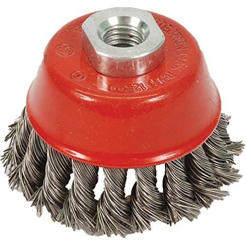 Silverline 868901 Brosse à fils métalliques torsadés 75 mm