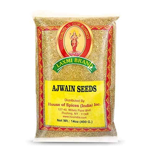 Laxmi All-Natural Ajwain Seed (Oregano Seeds), Bishop Weeds Seeds, Made Pure, Made Fresh, House of Spices, Product of India (14oz)