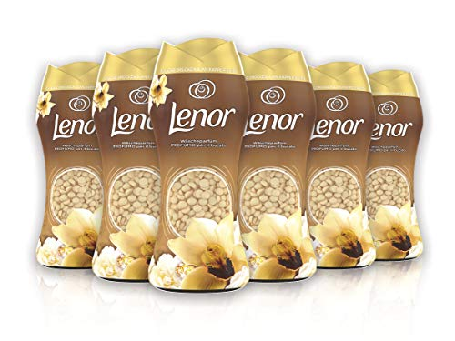 Lenor Duftrichtung für Bucato Mimosa, Rosa, Miele und Weich, Pfirsich, 6 x 218 g